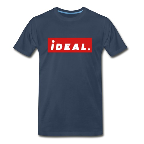 ideal Logo Red - Men's Premium Organic T-Shirt