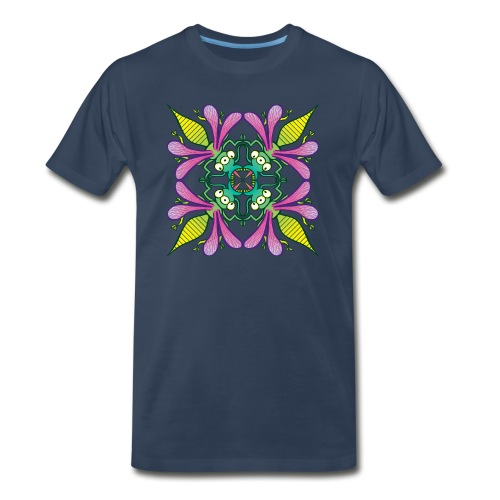 Glowing insects meeting in the middle of the night - Men's Premium Organic T-Shirt