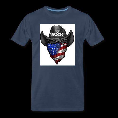 Eye rock cowboy Design - Men's Premium Organic T-Shirt