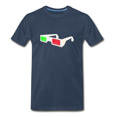 3D red green glasses - Men's Premium Organic T-Shirt
