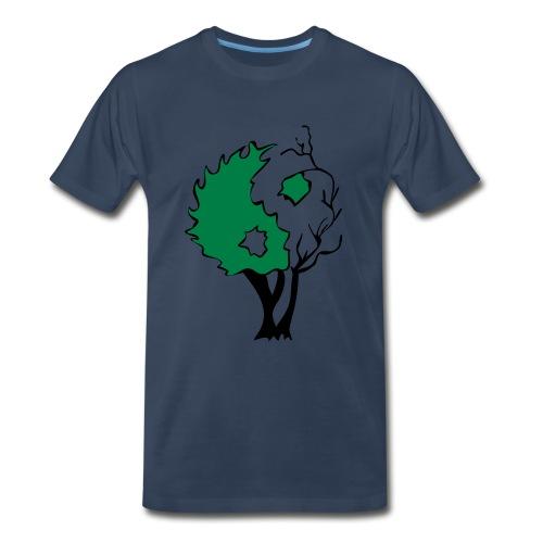 Yin Yang Tree - Men's Premium Organic T-Shirt