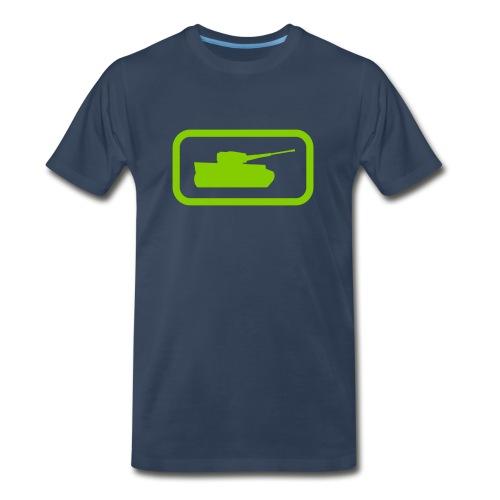 Tank Logo - Multi-Color - Axis & Allies - Men's Premium Organic T-Shirt