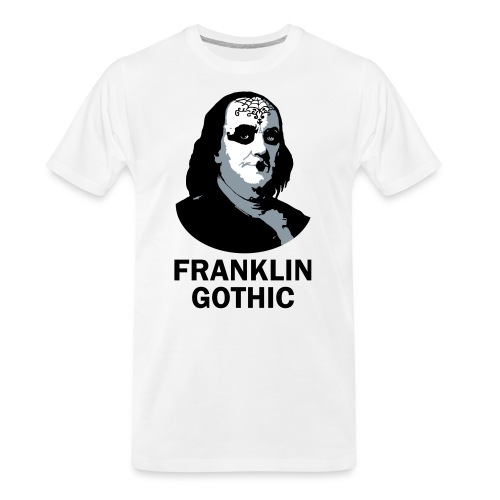Franklin Gothic - Men's Premium Organic T-Shirt