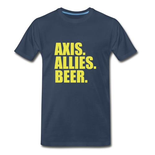 Axis. Allies. Beer. Axis & Allies - Men's Premium Organic T-Shirt