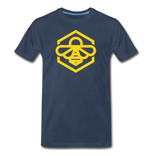 bee symbol orange - Men's Premium Organic T-Shirt