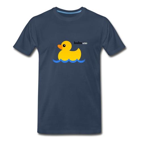 Hubs Duck - Wordmark and Water - Men's Premium Organic T-Shirt