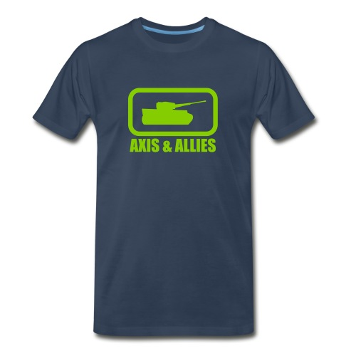 Tank Logo with Axis & Allies text - Multi-color - Men's Premium Organic T-Shirt