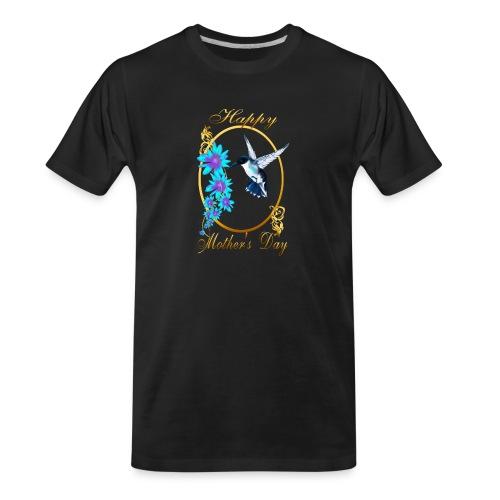 Mother's Day with humming birds - Men's Premium Organic T-Shirt