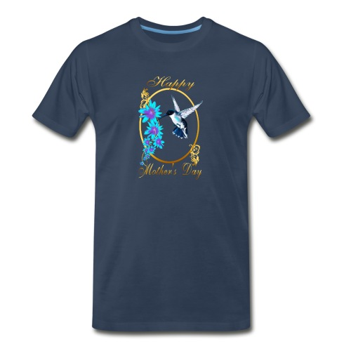 Mother's Day with humming birds - Men's Premium Organic T-Shirt