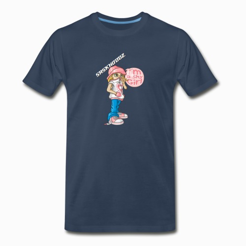 saskhoodz girl - Men's Premium Organic T-Shirt