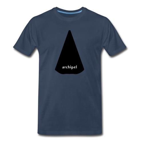 archipel_black on black - Men's Premium Organic T-Shirt