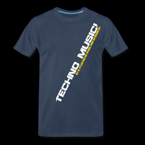 Techno Music.. Hey DJ.. - Men's Premium Organic T-Shirt