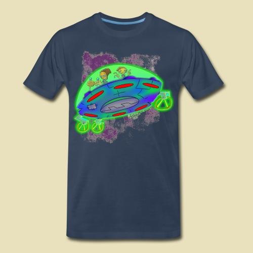Ongher's UFO Flying Saucer - Men's Premium Organic T-Shirt