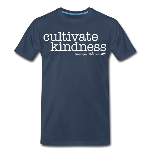 Cultivate Kindness White Logo Women's Shirt - Men's Premium Organic T-Shirt