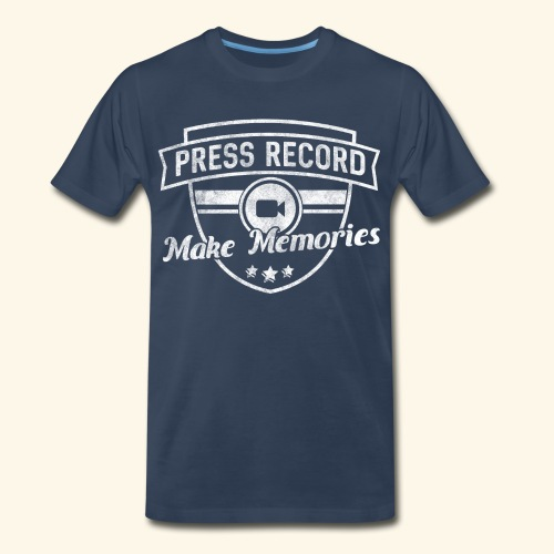 pressrecord_makememories2 - Men's Premium Organic T-Shirt