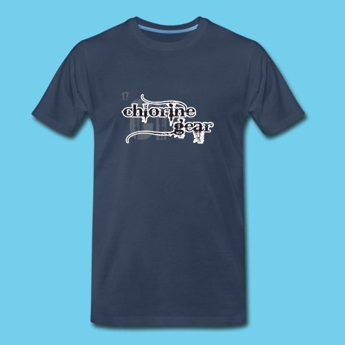 Chlorine Gear Textual B W - Men's Premium Organic T-Shirt