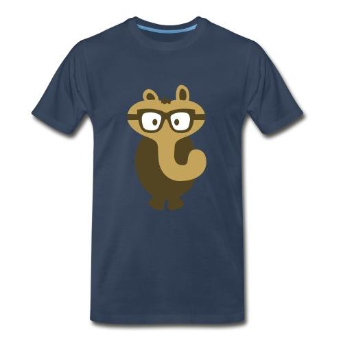 Funny Elephant Monster Wearing Glasses - Men's Premium Organic T-Shirt