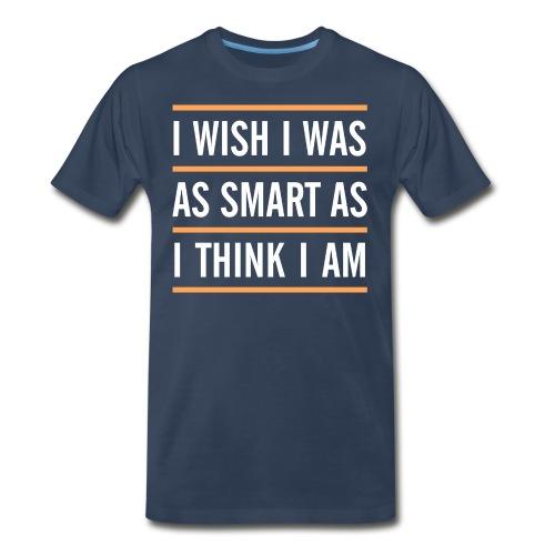 smart think clever - Men's Premium Organic T-Shirt