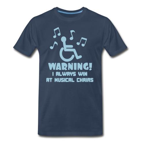 Wheelchair users always win at musical chairs - Men's Premium Organic T-Shirt