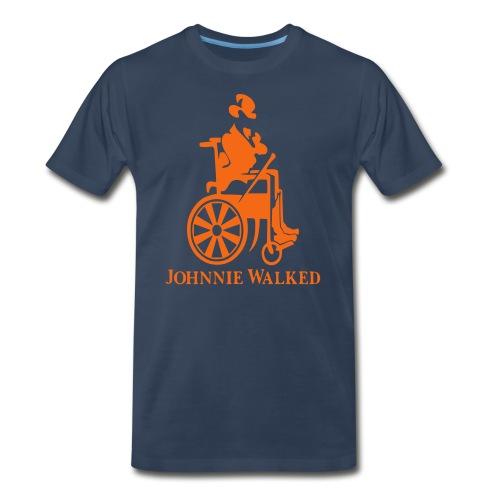 Johnnie Walked, Wheelchair fun, whiskey and roller - Men's Premium Organic T-Shirt