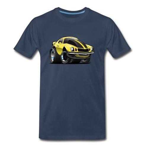 Seventies Classic American Muscle Car Cartoon - Men's Premium Organic T-Shirt