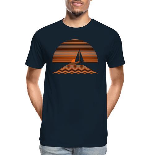 Sunset Sailboat - Men's Premium Organic T-Shirt