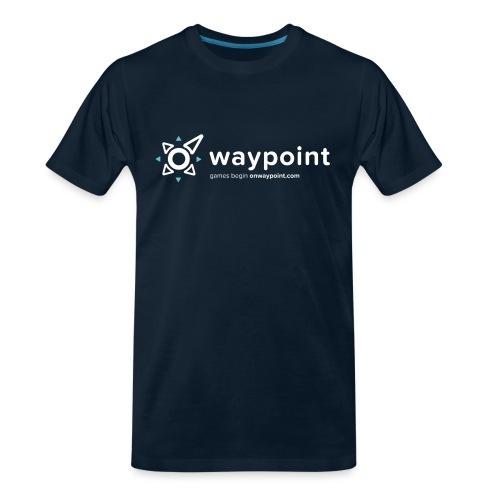Waypoint Logo (Light Version) - Men's Premium Organic T-Shirt