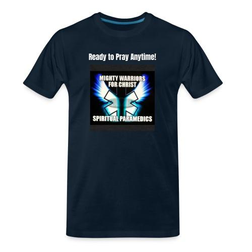 MightyWarrior PrayAnytime White - Men's Premium Organic T-Shirt