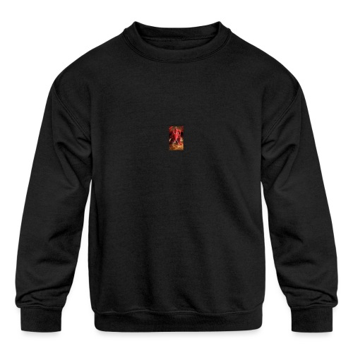 Dragon anger - Kids' Crewneck Sweatshirt