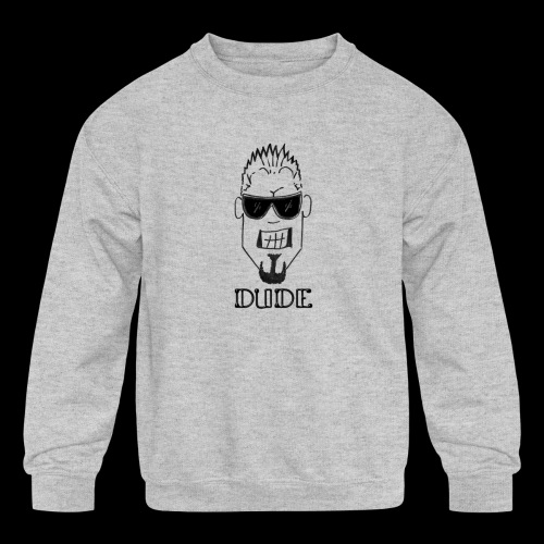 Dude Head 1 - Kids' Crewneck Sweatshirt