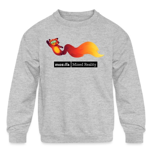 Flying Foxr (black MR logo) - Kids' Crewneck Sweatshirt