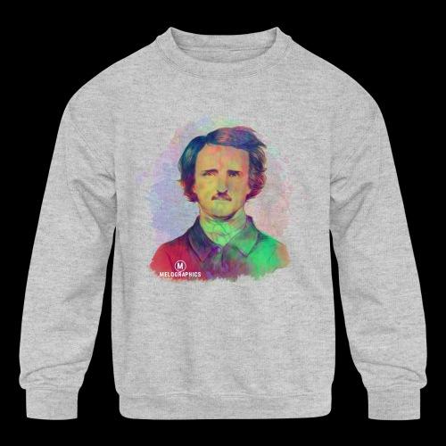 Poe-tic Portrait - Kids' Crewneck Sweatshirt