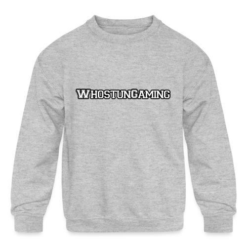 WhoStun Gaming Block college style - Kids' Crewneck Sweatshirt