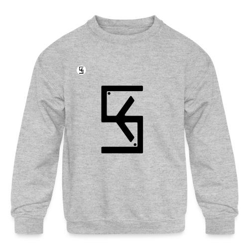 Soft Kore Logo Black - Kids' Crewneck Sweatshirt