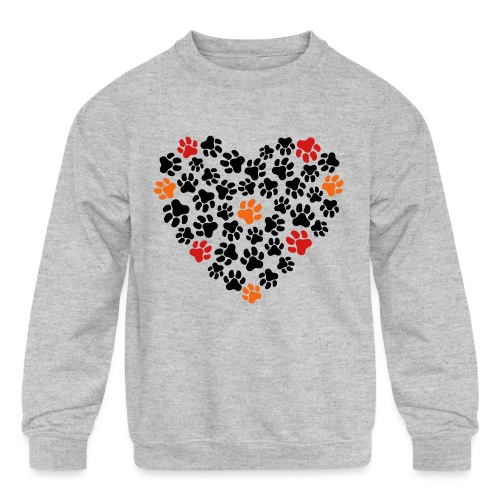 Animal Love - Kids' Crewneck Sweatshirt