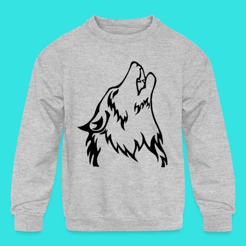 Wolf (back) - Kids' Crewneck Sweatshirt