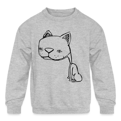 Meowy Wowie - Kids' Crewneck Sweatshirt