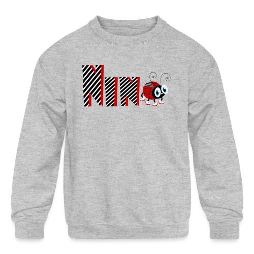 9nd Year Family Ladybug T-Shirts Gifts Daughter - Kids' Crewneck Sweatshirt