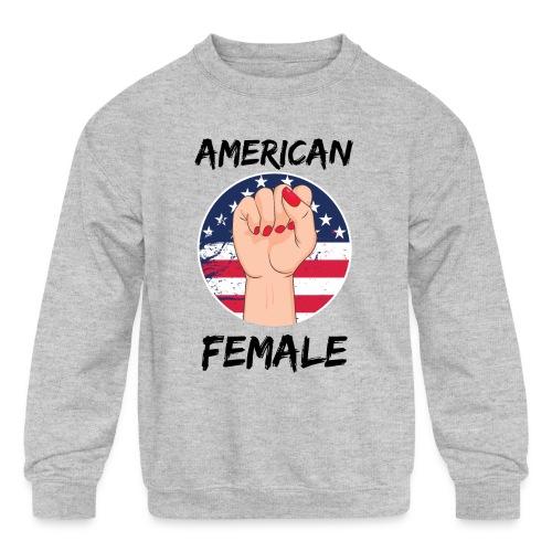 American Fimale apparel - Kids' Crewneck Sweatshirt
