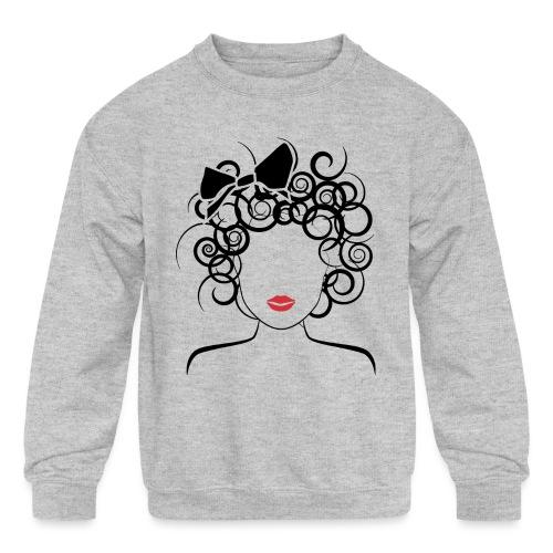 Global Couture logo_curly girl Women's T-Shirts - Kids' Crewneck Sweatshirt