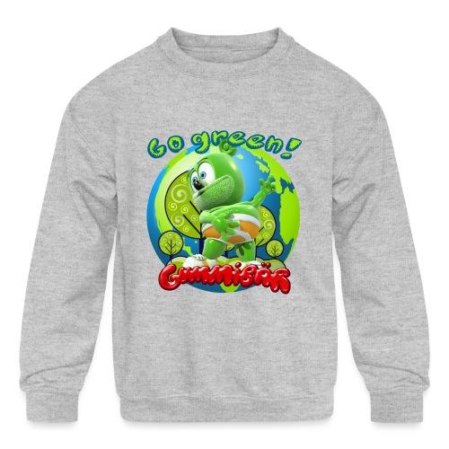Gummibär Go Green Earth Day Earth - Kids' Crewneck Sweatshirt