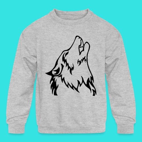 Wolf - Kids' Crewneck Sweatshirt