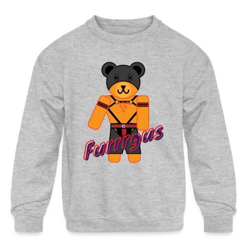 Leather Furrrgus - Kids' Crewneck Sweatshirt