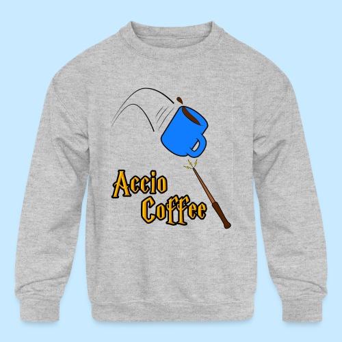 Accio Coffee MUG both v1 png - Kids' Crewneck Sweatshirt