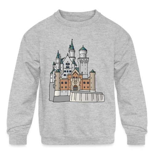 Neuschwanstein Castle, Bavaria - Kids' Crewneck Sweatshirt
