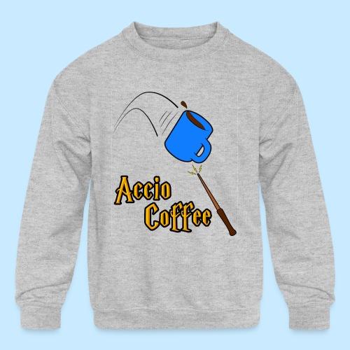 Accio Coffee! (Double Sided) - Kids' Crewneck Sweatshirt