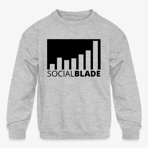 SB Blackout Logo - Kids' Crewneck Sweatshirt