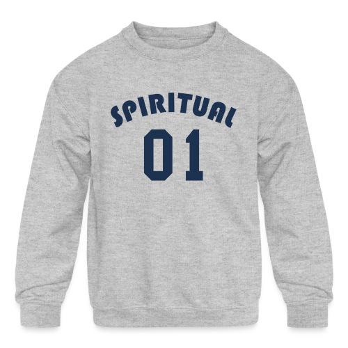Spiritual One - Kids' Crewneck Sweatshirt