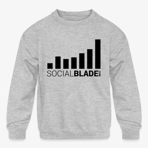 Socialblade (Dark) - Kids' Crewneck Sweatshirt