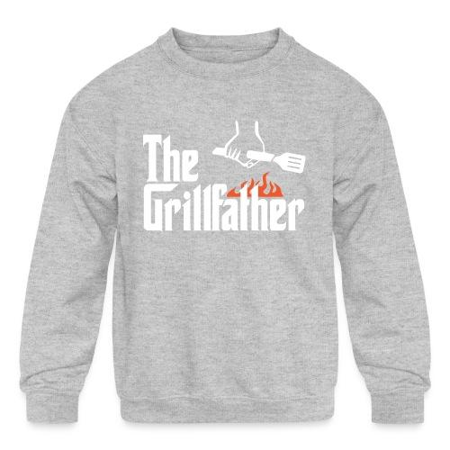 The Grillfather - Kids' Crewneck Sweatshirt
